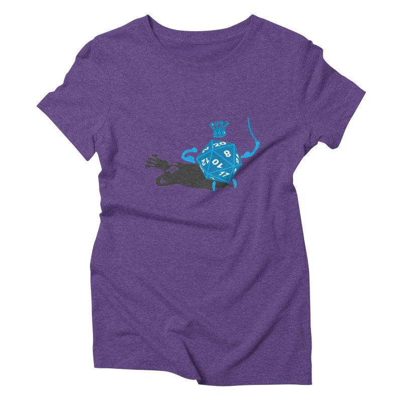King d20 / Natural Leader Women's Triblend T-shirt by Alpha Ryan's Artist Shop