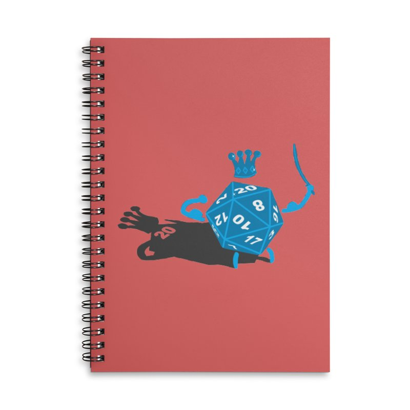 King d20 / Natural Leader Accessories Lined Spiral Notebook by Alpha Ryan's Artist Shop