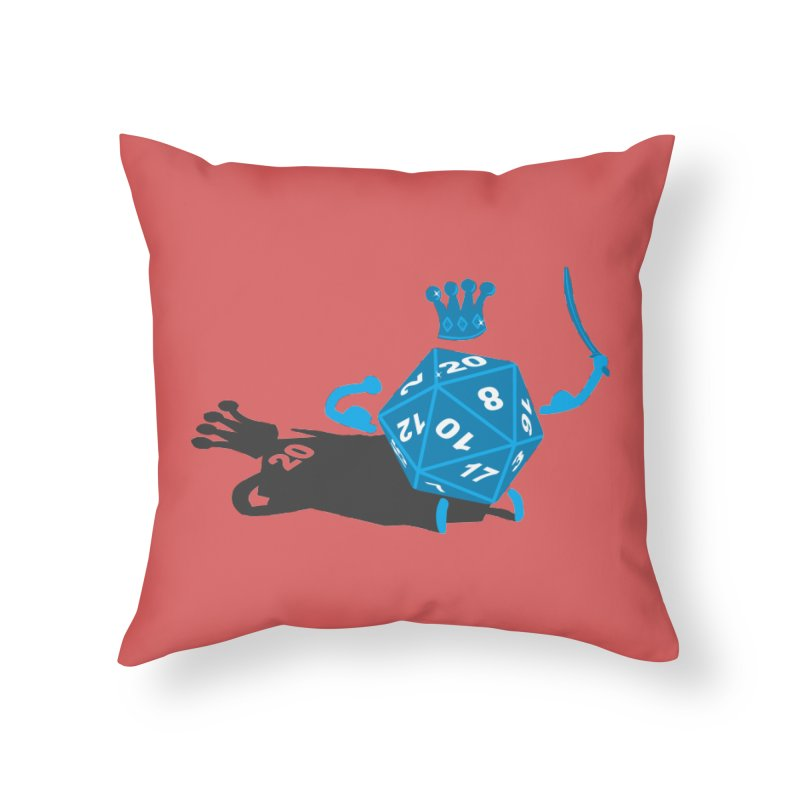 King d20 / Natural Leader Home Throw Pillow by Alpha Ryan's Artist Shop