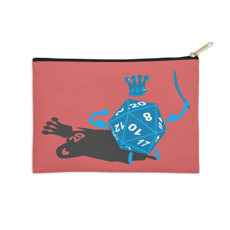 King d20 / Natural Leader Accessories Zip Pouch by Alpha Ryan's Artist Shop