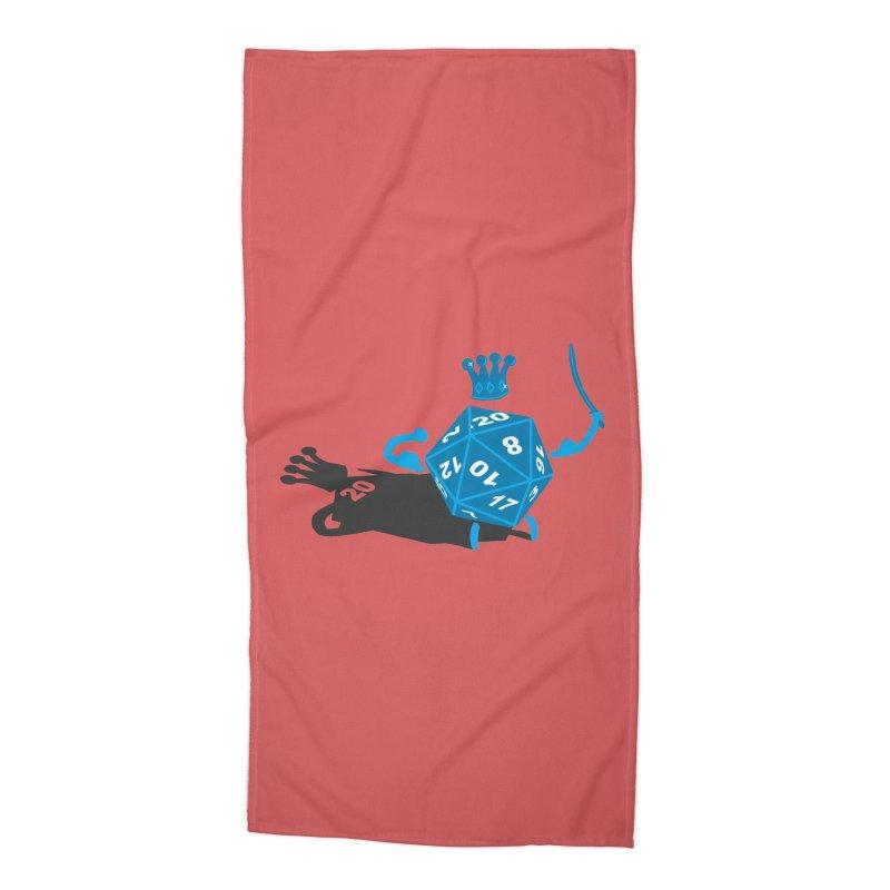 King d20 / Natural Leader Accessories Beach Towel by Alpha Ryan's Artist Shop