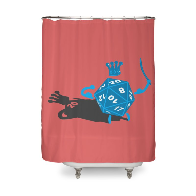 King d20 / Natural Leader Home Shower Curtain by Alpha Ryan's Artist Shop