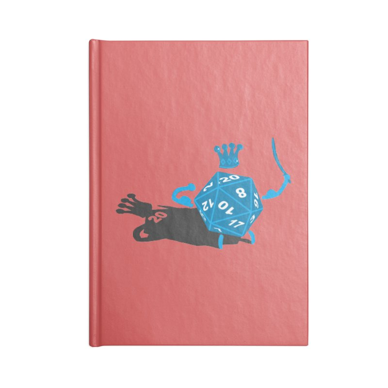 King d20 / Natural Leader Accessories Lined Journal Notebook by Alpha Ryan's Artist Shop