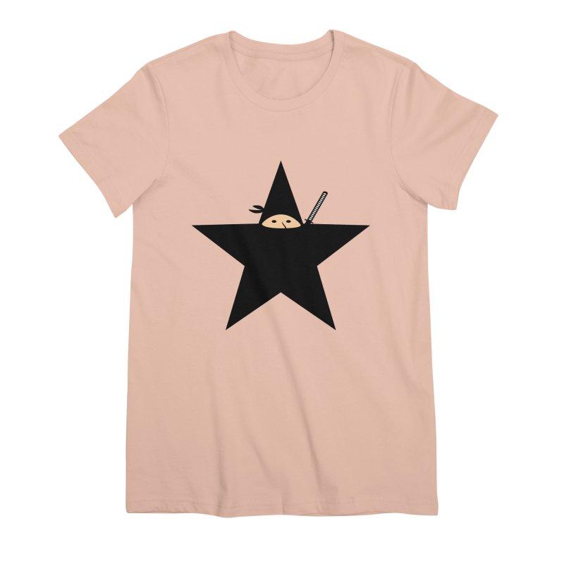 Ninja Star Women's Premium T-Shirt by Alpha Ryan's Artist Shop