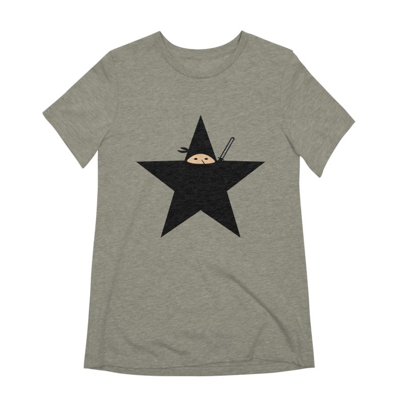 Ninja Star Women's Extra Soft T-Shirt by Alpha Ryan's Artist Shop