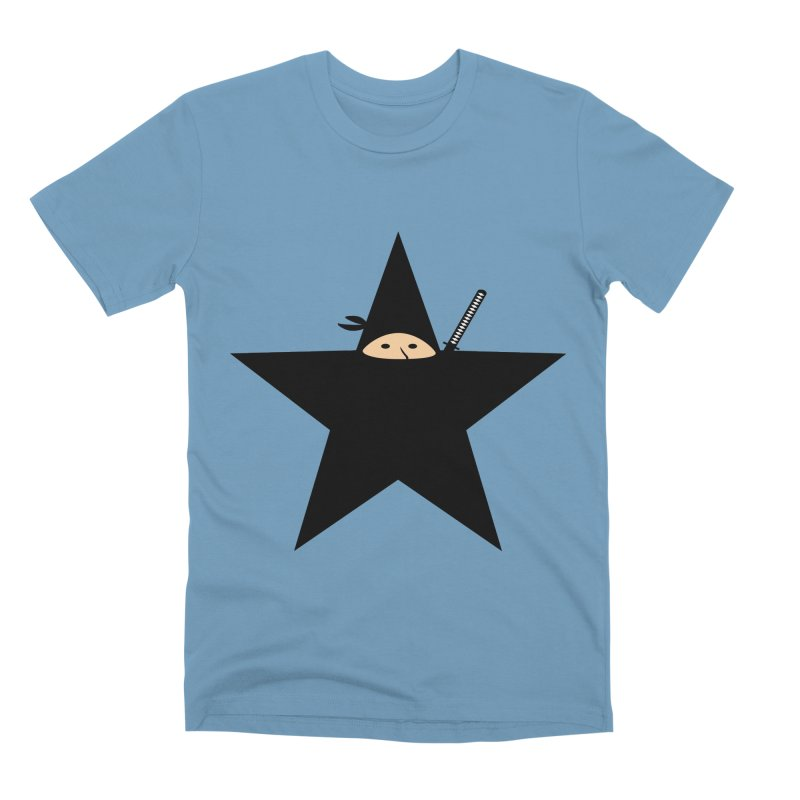 Ninja Star Men's T-Shirt by Alpha Ryan's Artist Shop