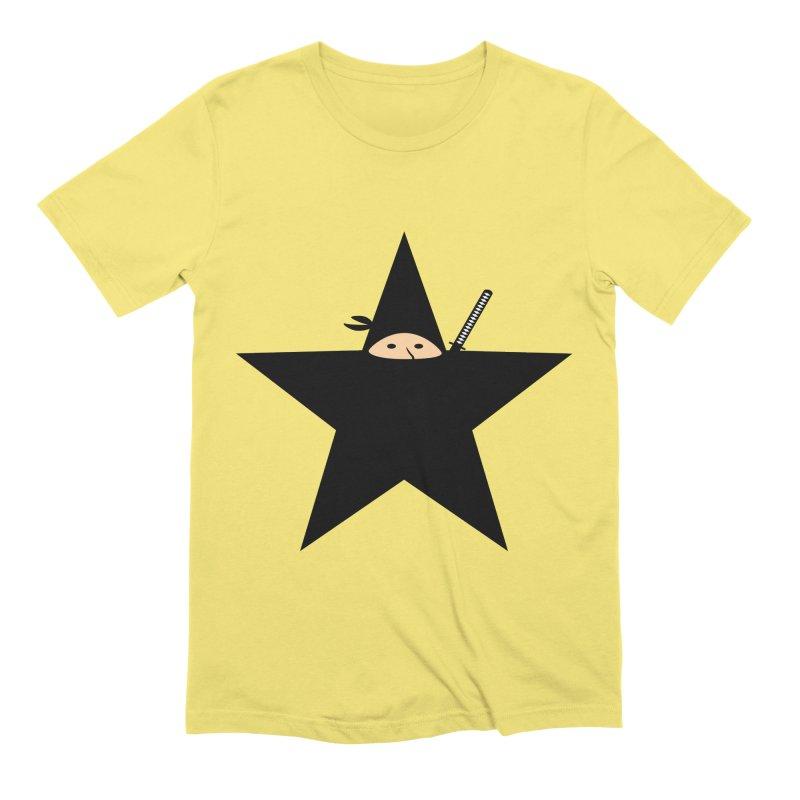 Ninja Star Men's Extra Soft T-Shirt by Alpha Ryan's Artist Shop