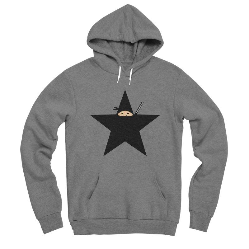 Ninja Star Men's Pullover Hoody by Alpha Ryan's Artist Shop