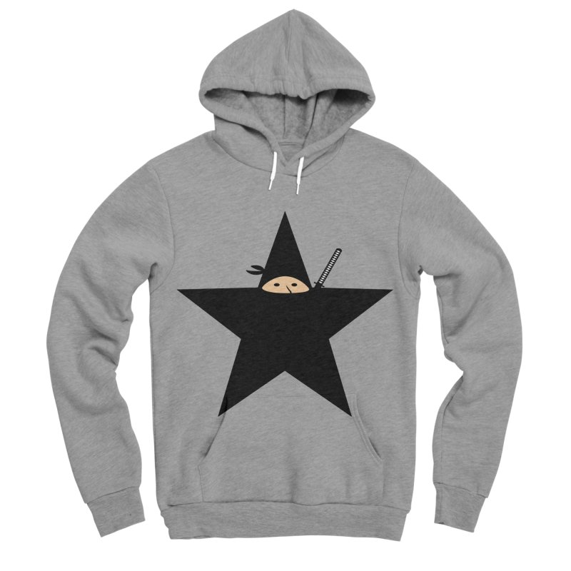 Ninja Star Men's Sponge Fleece Pullover Hoody by Alpha Ryan's Artist Shop