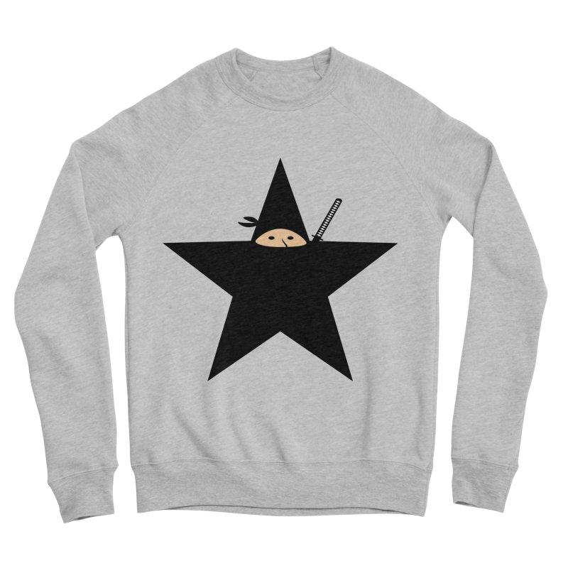 Ninja Star Men's Sponge Fleece Sweatshirt by Alpha Ryan's Artist Shop