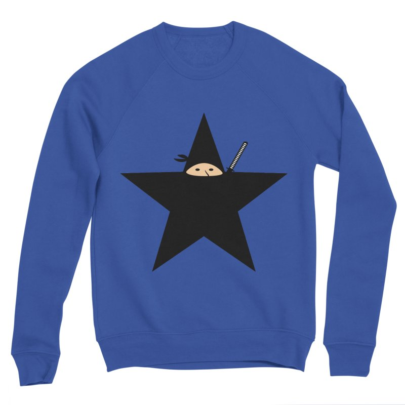 Ninja Star Men's Sponge Fleece Sweatshirt by Alpha Ryan's Artist Shop
