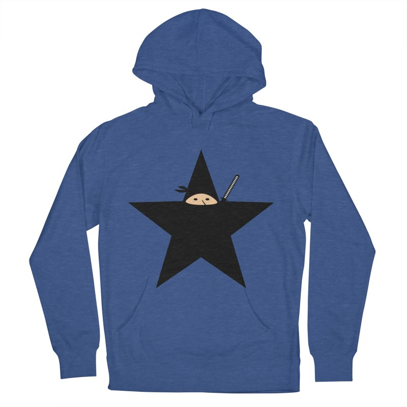 Ninja Star Women's French Terry Pullover Hoody by Alpha Ryan's Artist Shop