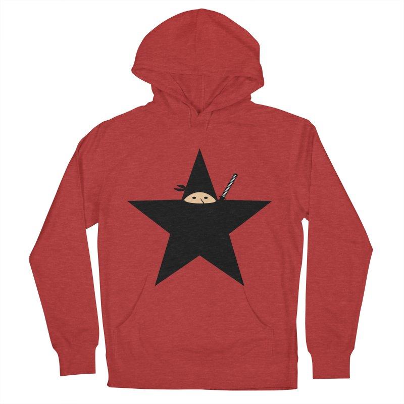 Ninja Star Women's French Terry Pullover Hoody by Alpha Ryan's Artist Shop