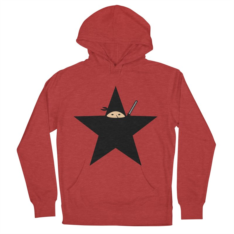Ninja Star Men's French Terry Pullover Hoody by Alpha Ryan's Artist Shop