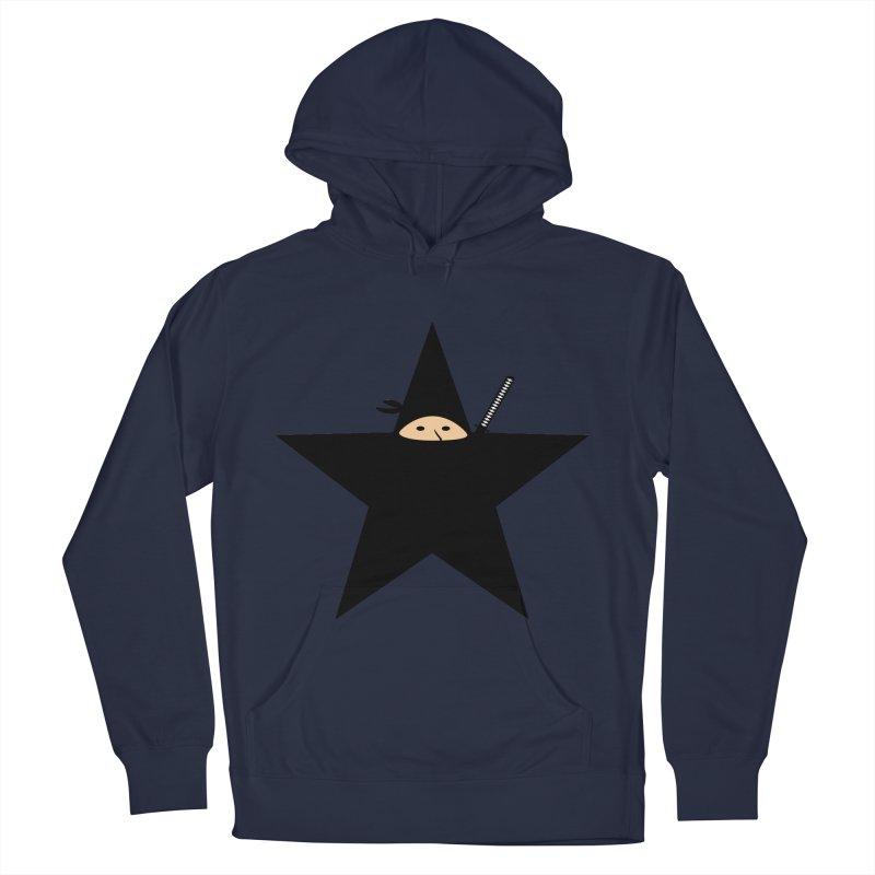Ninja Star Men's French Terry Pullover Hoody by Alpha Ryan's Artist Shop