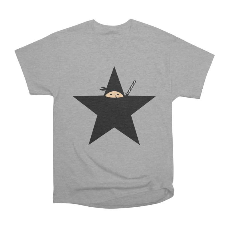 Ninja Star Men's Heavyweight T-Shirt by Alpha Ryan's Artist Shop