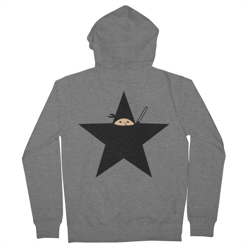 Ninja Star Women's Zip-Up Hoody by Alpha Ryan's Artist Shop