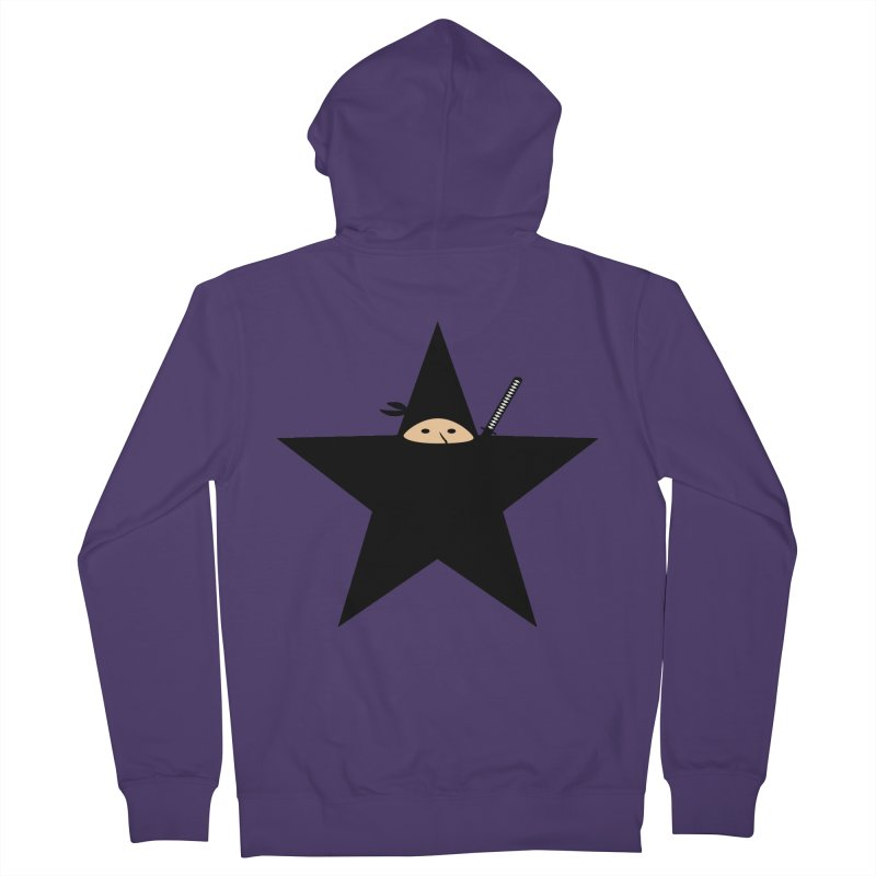 Ninja Star Women's French Terry Zip-Up Hoody by Alpha Ryan's Artist Shop