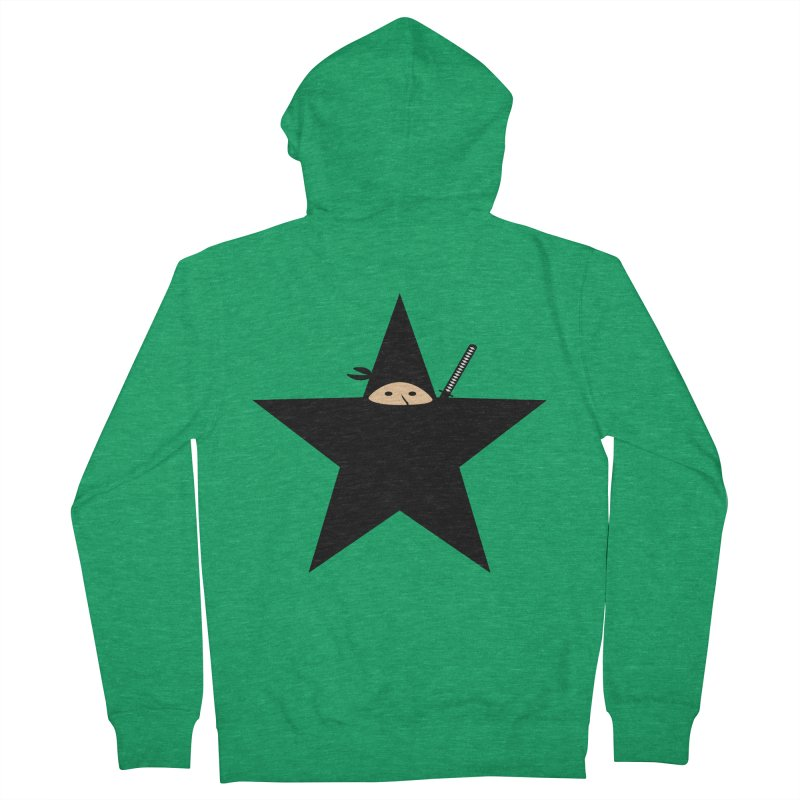 Ninja Star Men's Zip-Up Hoody by Alpha Ryan's Artist Shop