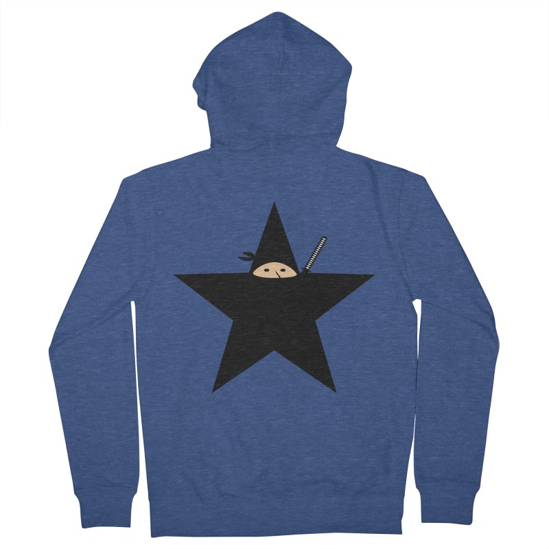Ninja Star Men's French Terry Zip-Up Hoody by Alpha Ryan's Artist Shop