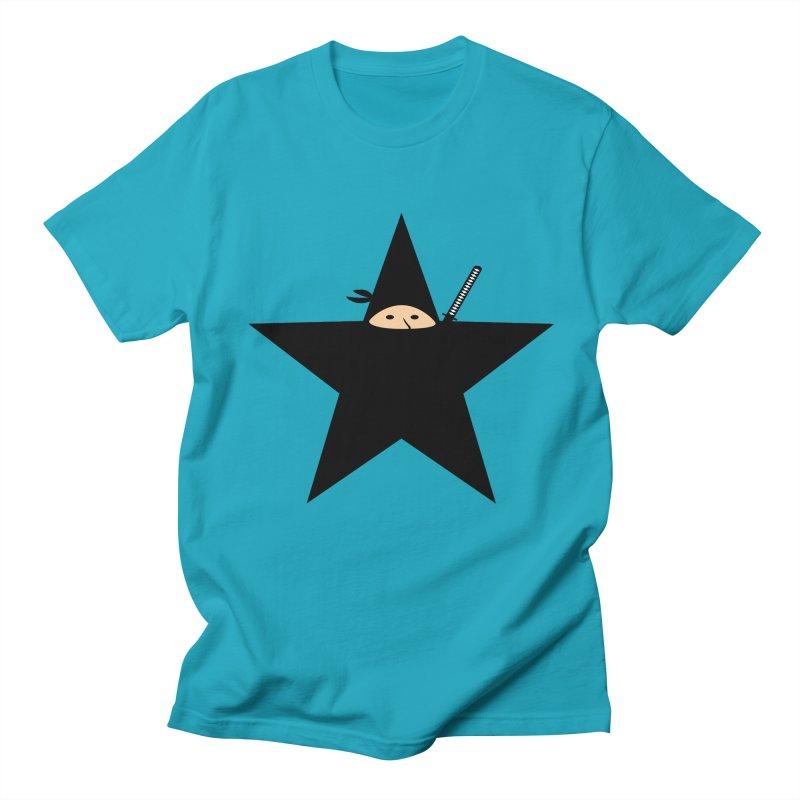 Ninja Star Men's Regular T-Shirt by Alpha Ryan's Artist Shop