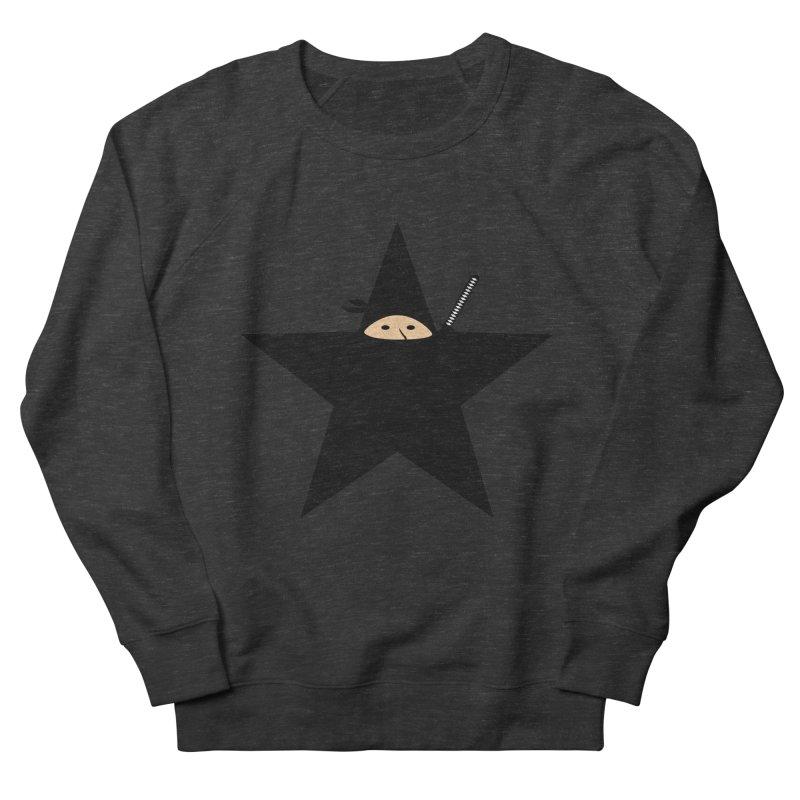 Ninja Star Women's French Terry Sweatshirt by Alpha Ryan's Artist Shop