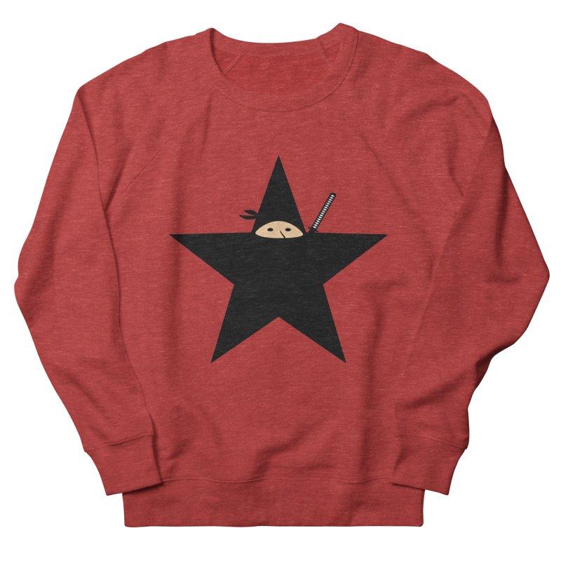 Ninja Star Men's French Terry Sweatshirt by Alpha Ryan's Artist Shop