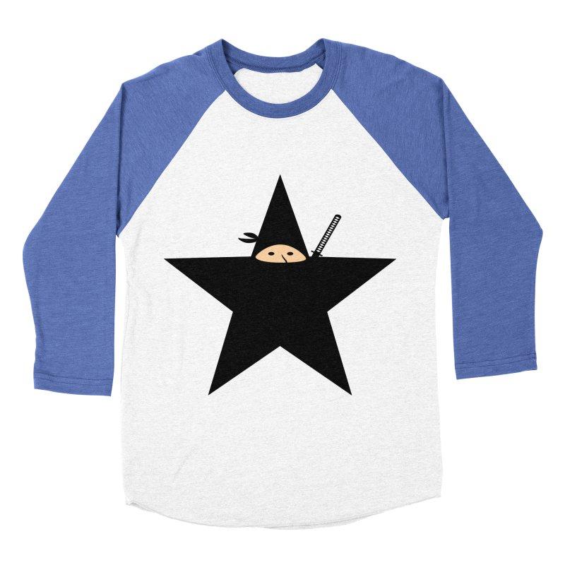 Ninja Star Men's Baseball Triblend Longsleeve T-Shirt by Alpha Ryan's Artist Shop