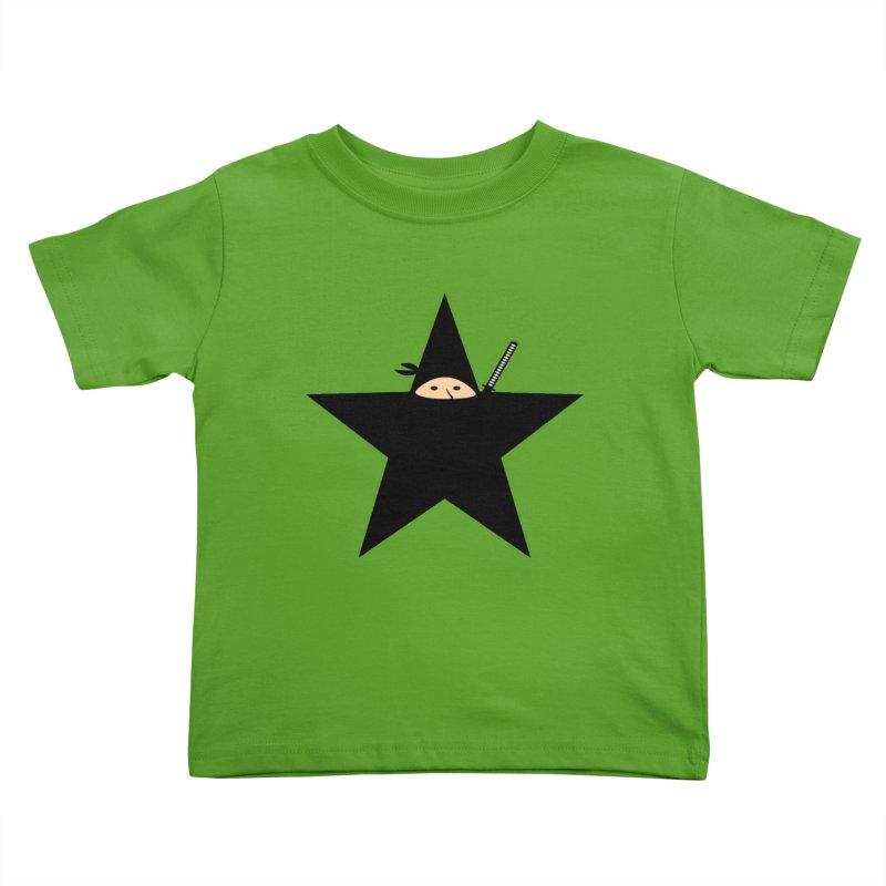 Ninja Star Kids Toddler T-Shirt by Alpha Ryan's Artist Shop