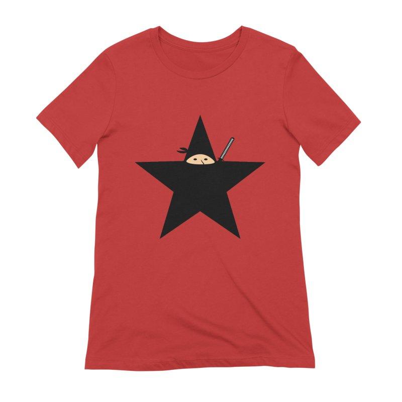 Ninja Star Women's T-Shirt by Alpha Ryan's Artist Shop