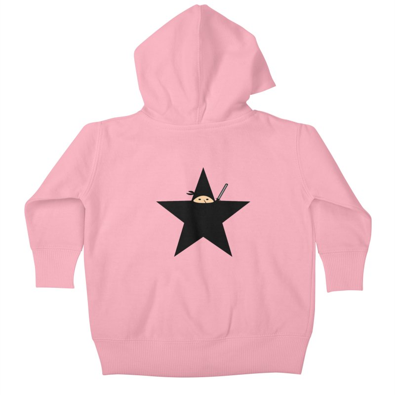 Ninja Star Kids Baby Zip-Up Hoody by Alpha Ryan's Artist Shop