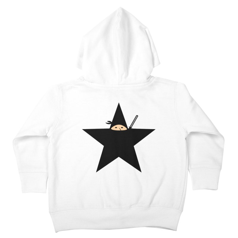 Ninja Star Kids Toddler Zip-Up Hoody by Alpha Ryan's Artist Shop