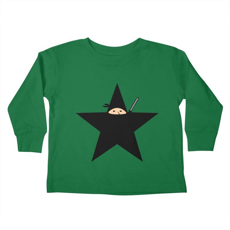 Ninja Star Kids Toddler Longsleeve T-Shirt by Alpha Ryan's Artist Shop