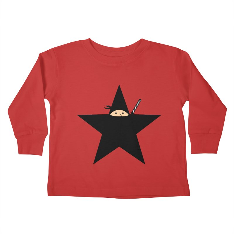 Ninja Star Kids Toddler Longsleeve T-Shirt by Alpha Ryan's Artist Shop