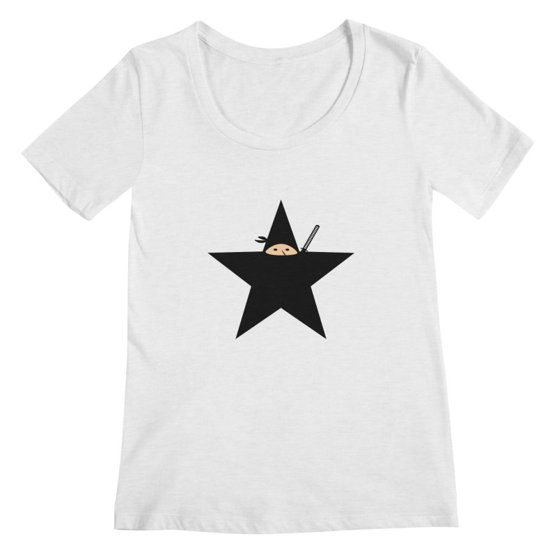 Ninja Star Women's Scoopneck by Alpha Ryan's Artist Shop