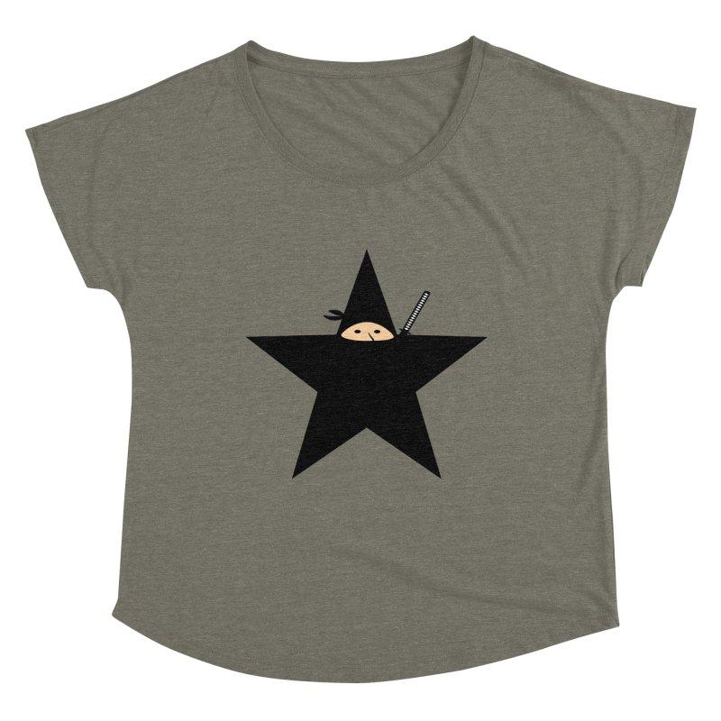 Ninja Star Women's Scoop Neck by Alpha Ryan's Artist Shop