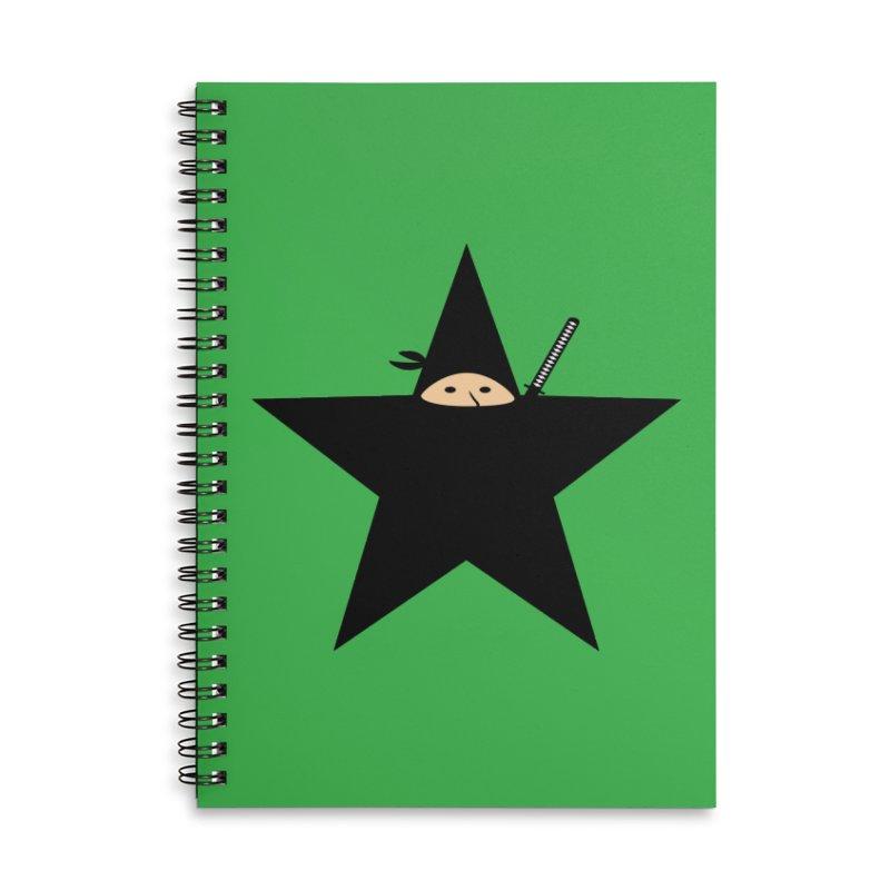 Ninja Star Accessories Lined Spiral Notebook by Alpha Ryan's Artist Shop