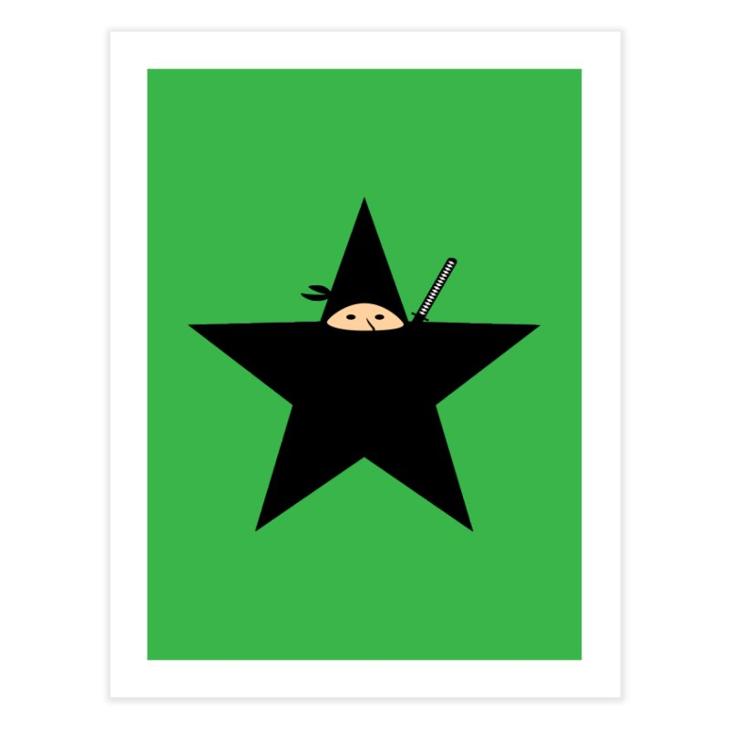 Ninja Star Home Fine Art Print by Alpha Ryan's Artist Shop