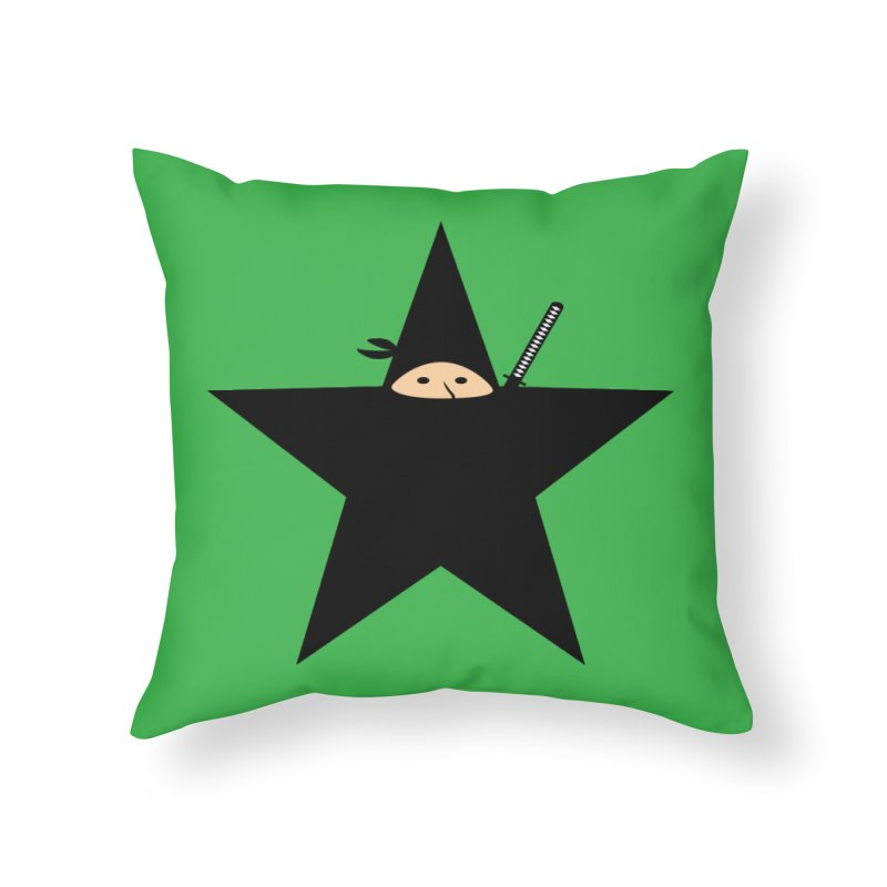 Ninja Star Home Throw Pillow by Alpha Ryan's Artist Shop