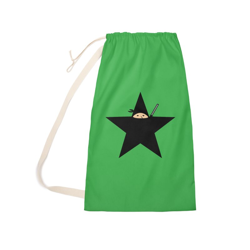 Ninja Star Accessories Laundry Bag Bag by Alpha Ryan's Artist Shop