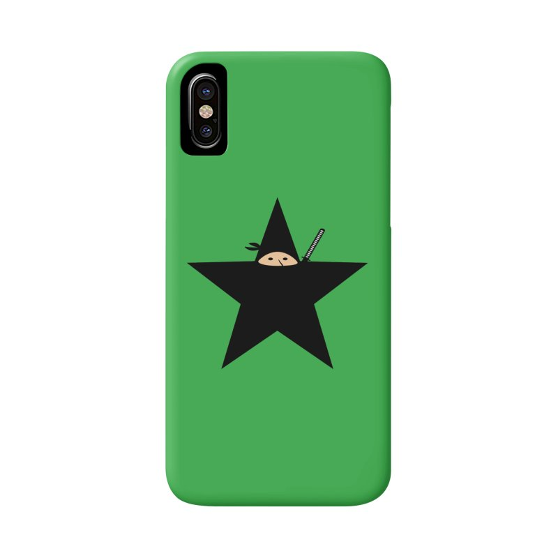 Ninja Star Accessories Phone Case by Alpha Ryan's Artist Shop