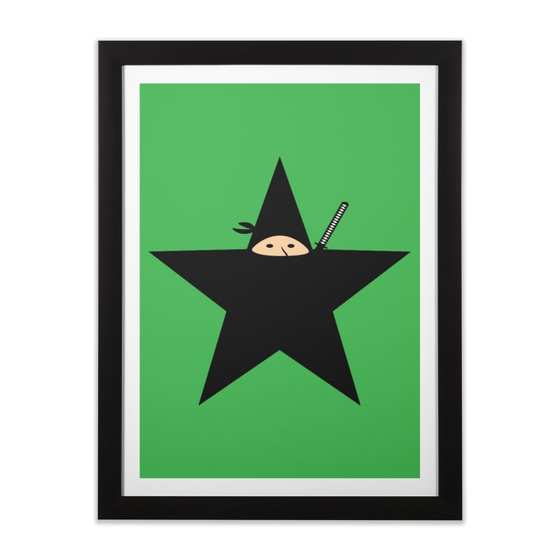 Ninja Star Home Framed Fine Art Print by Alpha Ryan's Artist Shop
