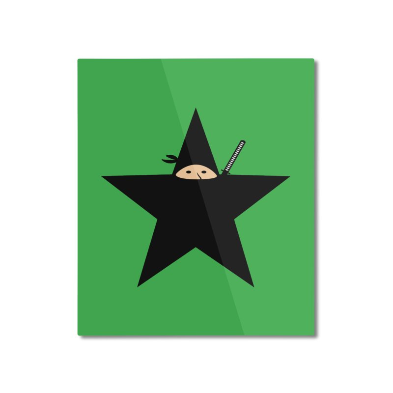 Ninja Star Home Mounted Aluminum Print by Alpha Ryan's Artist Shop