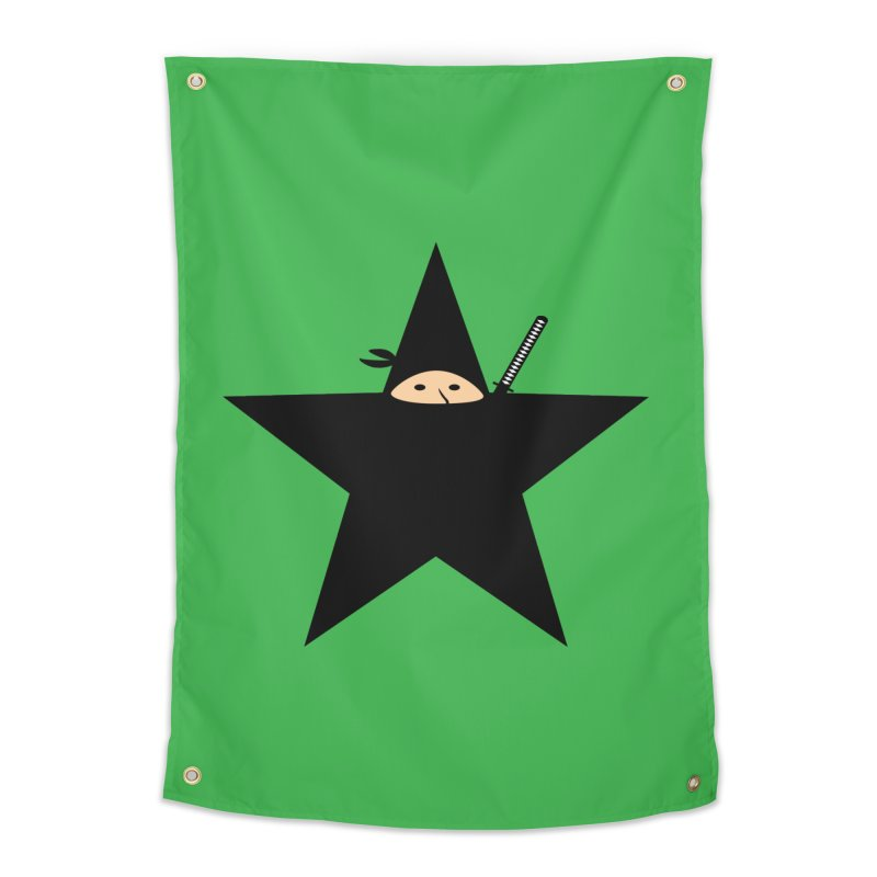 Ninja Star Home Tapestry by Alpha Ryan's Artist Shop