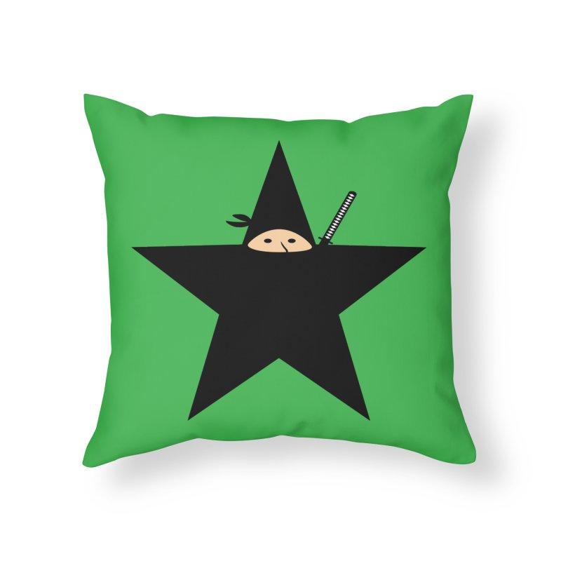 Ninja Star Home Throw Pillow by Alpha Ryan's Artist Shop
