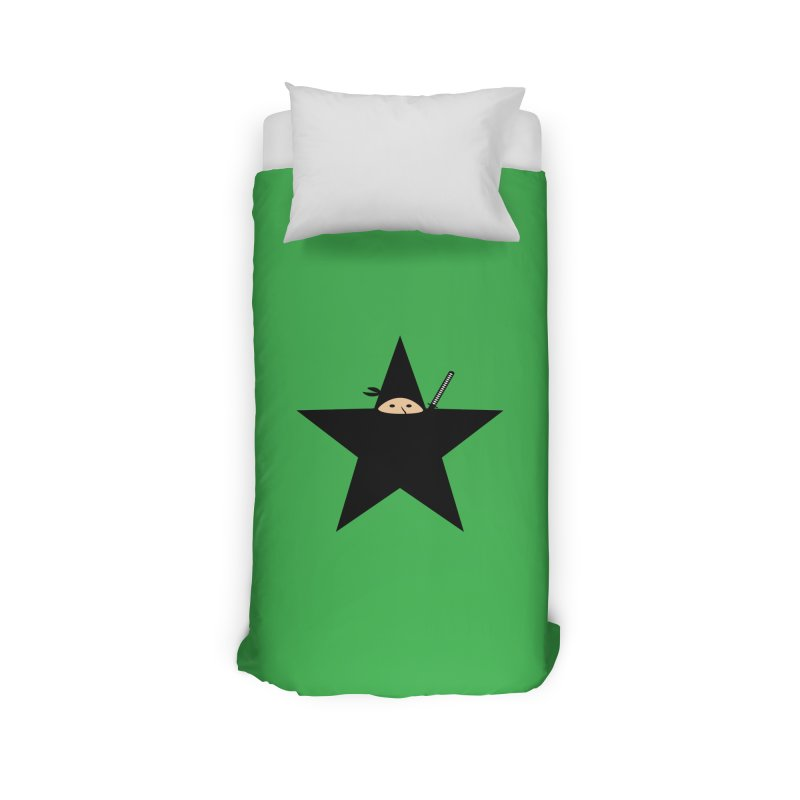 Ninja Star Home Duvet by Alpha Ryan's Artist Shop