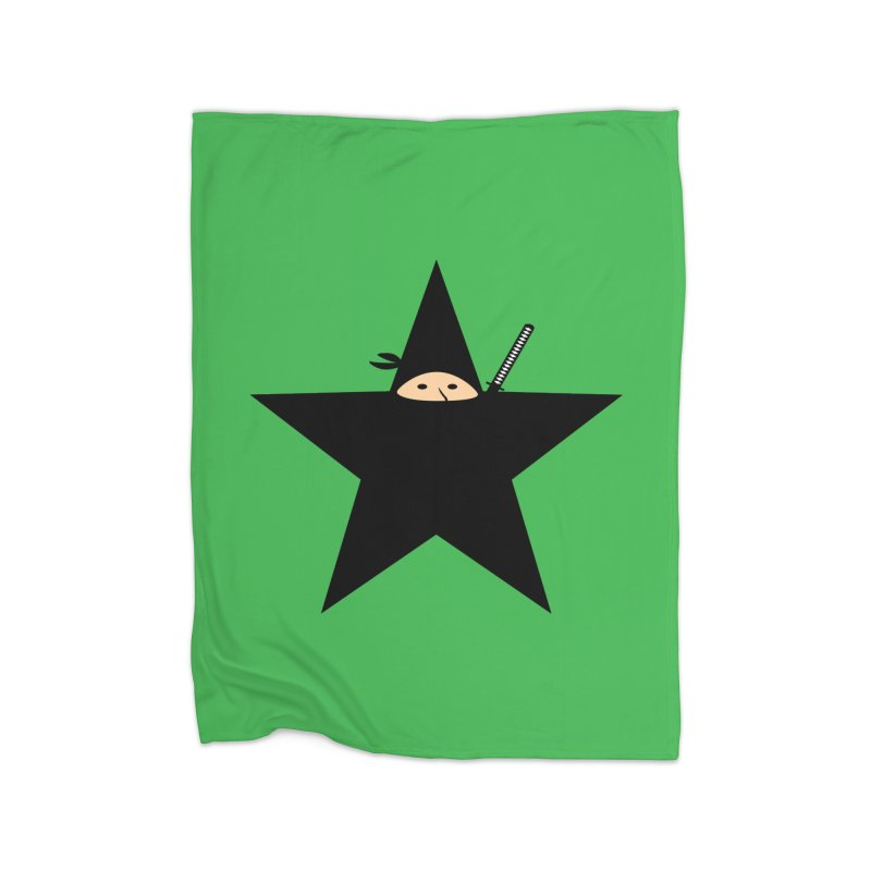 Ninja Star Home Fleece Blanket Blanket by Alpha Ryan's Artist Shop