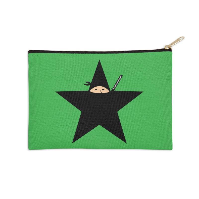 Ninja Star Accessories Zip Pouch by Alpha Ryan's Artist Shop