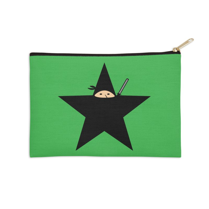 Ninja Star Accessories Zip Pouch by Alpha Ryan's Artist Shop