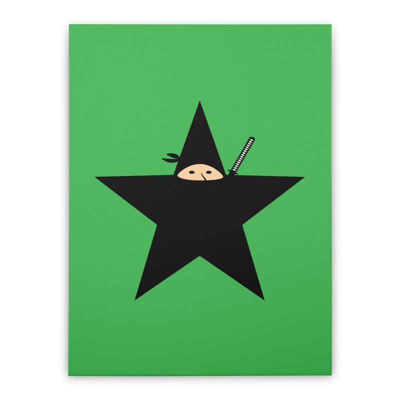 Ninja Star Home Stretched Canvas by Alpha Ryan's Artist Shop